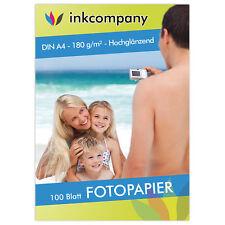 100 Blatt DIN A4 180g/m² Fotopapier Photopapier Hochglanz Wasserfest Glossy