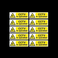CCTV Sign, Sticker Pack of 10 - 300mm x 100mm - Security, Camera - (MISC2)