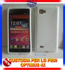 Pellicola + Custodia cover case WAVE BIANCA per LG Optimus 4X HD P880