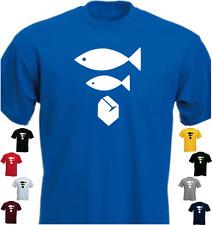 Big Fish Little Fish Cardboard Box New Funny T-shirt Present Gift