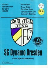 OL 88/89  FC Carl Zeiss Jena - SG Dynamo Dresden, RS-B