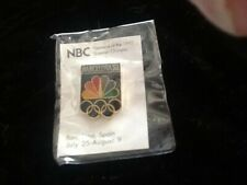 1992 Barcelona NBC Media Olympic Pins (New in Original Package)