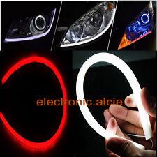 2x 60cm Dc 12V Drl DayTime Running Led Red Flexible Tube Headlight Audi Style