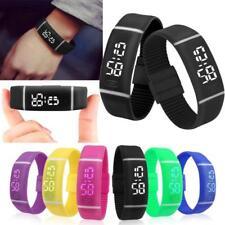 Unisex Men Women Silicone Rubber LED Watch Sports Bracelet Digital Wrist Watch