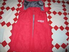 Puma Hooded Mens Red Vest Full Zip Size L