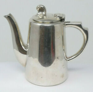 Small Vintage ½ Pint Art Deco Silver Plated Bachelor Teapot by Mappin & Webb