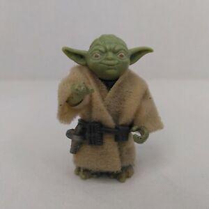 Vintage 1980 Star Wars Yoda Action Figure With Jacket & Belt Empire Strikes Back