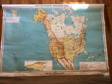 VINTAGE Pull Down School Map Denoyer-Geppert Beginners United States 1966