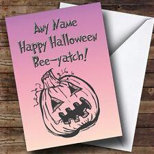 Pumpkin Personalised Halloween Card