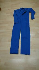 Ladies Or Mens Or Kids Use Blue Colour Boilersuit Or Overalls.
