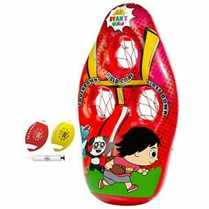 Franklin Sports Ryan's World Kids Football Target Toss Game - Inflatable Foot...
