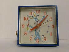 Vintage Bugs Bunny Seth Thomas Minicube Analog Clock 1970 with Alarm Works