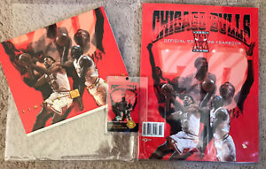 🔴 MICHAEL JORDAN CHICAGO BULLS LIMITED EDITION OFFICIAL 95 96 YEARBOOK unused