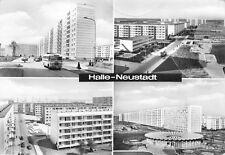 AK Halle-Neustadt Kindereinrichtung Buratino Delta I. Strasse Bus Echt Foto