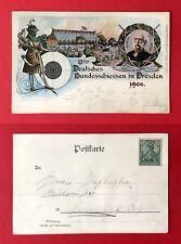 Anlass AK DRESDEN um 1900 13. dt. Bundesschiessen mit König Albert  ( 42594