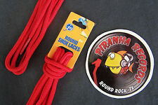 """Red Thin Round 54"""" x (1/8""""-3/8"""") JN Shoelaces Shoe Strings Piranha Records"""