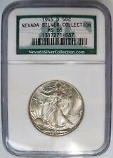 1945 D Walking Liberty Half Dollar NGC MS 66 Nevada Silver Collection Hoard Coin