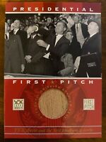 2002 TOPPS AMERICAN PIE PRESIDENTIAL FIRST PITCH JOHN F. KENNEDY SEAT RELIC JFK