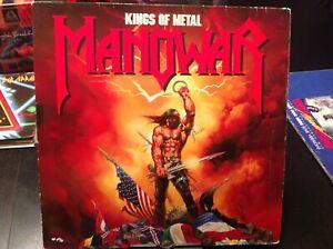 Manowar Heavy Speed Metal LP Vinyl 12  Kings of Metal Atlantic OIS o.Poster 33