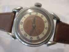 Vintage large antique WWII World War II MILITARY CLINTON mens watch .. NR