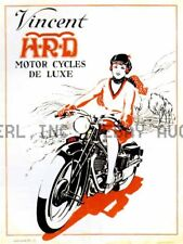 Vincent HRD HRD Motorcycle print poster image  ca 8 x 10 print poster prent