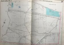 1950 MAIN LINE, CHESTER CO. PA, WEST WHITELAND TWP CHURCH FARM SCHOOL, ATLAS MAP