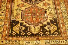 c1930s ANTIQUE PERSIAN HERIZ SERAPI RUNNER_LONG RUG 4.5x10. 3SOFT COLOR COMBO.