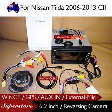 "6.2"" Nav Car DVD GPS For Nissan Tiida 2006-2013 CII with AUX IN External-MIC"