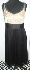 Next Ladies black and gold dress size 12