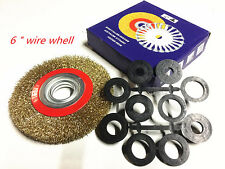 "6"" 150mm Brass Wheel Wire Brush Crimped Bench Grinder Steel Wire"