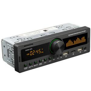 Car Stereo MP3 Player Bluetooth AUX USB TF FM Radio Audio With Remote Control
