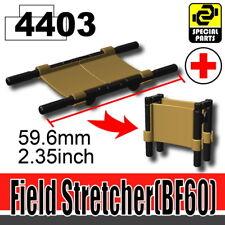 Dark Tan WW1 World War 3 Stretcher for LEGO army military brick minifigures