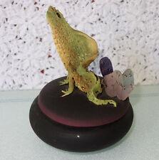 1988 Ceramic Iguana TOTEM BOX Pottery by Nancy Yturriaga Adams Detailed Lizard