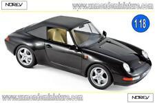 Porsche 911 Carrera Cabriolet 1994 Black  NOREV - NO 187595 - Echelle 1/18