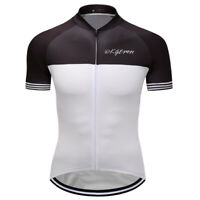 MensShort Sleeve Cycling Jerseys Outdoor Sports Riding Riding Bike Shirt White