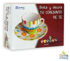 Crafts By Andreu Toys Dipingere E Decorare Il Vostro Set tea ean 8416040600087