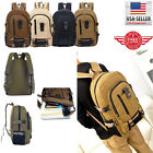 Men Retro Vintage Canvas Backpack Rucksack Travel Sports School 00012 Hiking Bag