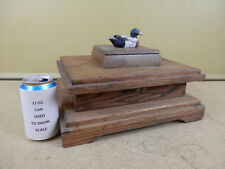 Vintage Wood Poker Chip & Playing Card Case Storage Box With Duck Wooden Antique