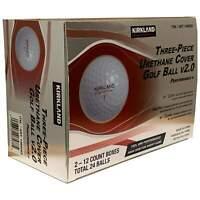 2021 KIRKLAND SIGNATURE v2.0 Three-Piece Urethane Cover Golf Balls 2-dozen..