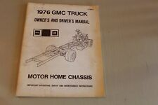 GMC Truck Motor Home Chasis Owners Manual
