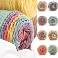 Colorful Crochet Knitting Yarn Cotton Chunky Yarn Thread Thick Knitting