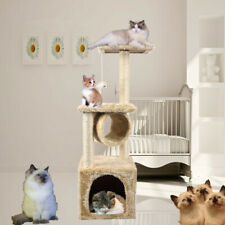 """36""""Cat Tree Scratcher Play House Condo Kitten Furniture Tower Bed Post Pet House"""