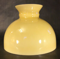 "New 10"" Opal Glass Student Lamp Shade w/ Buff Nu-Gold Painted Background U.S.A"