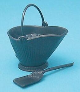 Dollhouse Miniature Coal Scuttle Kit from Chrysnbon - 1:12 Scale