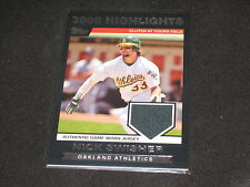 NICK SWISHER A'S TOPPS CERTIFIED GENUINE AUTHENTIC GAME USED JERSEY CARD