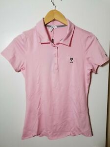 1 NWT UNDER ARMOUR WOMEN'S POLO, SIZE: SMALL, COLOR: LIGHT PINK (J81)