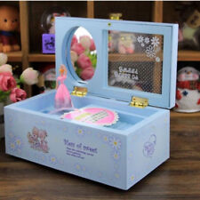 Rotary Dance Girl Musical Jewellery Box Rectangle With Mirror Valentine's Gift