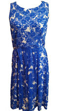 Ronni Nicole Women Blue Dress Cocktail Casual Office Size 10
