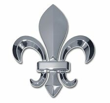 Fleur-de-Lis 3-D Chrome Auto Emblem Louisiana New Orleans Saints