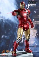 (US) Hot Toys 1/6 The Avengers MMS378D17 Die-cast Iron Man MK6 Mark VI Figure